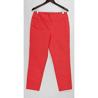 Martha Stewart Women's Pants Stretch Twill Pull-On Coral Pink A307742