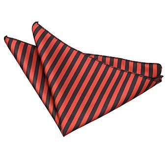 Sort & rød tynd stribe Pocket Square
