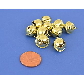 10 Gold 11mm Cat Bell Style Jingle Bells for Crafts