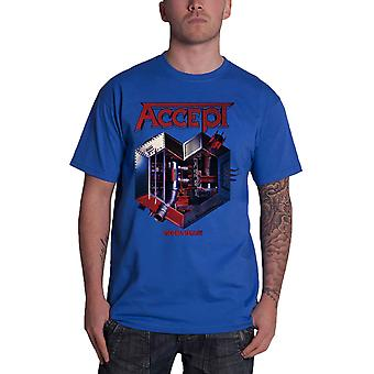 Accept T Shirt Metal Heart Band Logo new Official Mens Blue