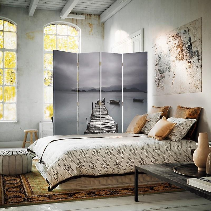 Room Divider, 4 panneaux, Double-Sided, Rotatable 360 ?? - Toile, Plateforme