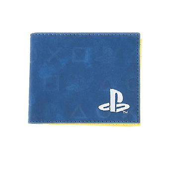 Playstation Wallet Classic Icons Logo all over print new Official Blue Bifold