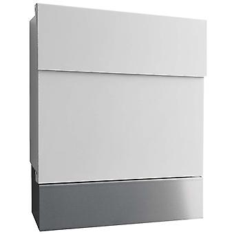 RADIUS white Letterman 5 letterbox with stainless steel paper role - 560 E + 505 L