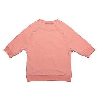 Infant Girls Juicy Couture Gothic Script Sweat In Peach- Raglan Sleeve- Ribbed