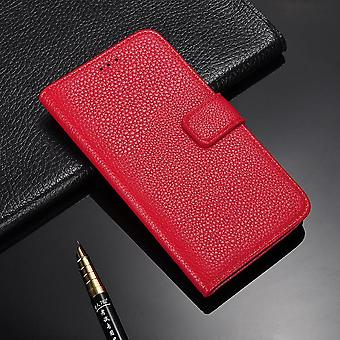 Galaxy S6 cases wallet shell leeche cover red