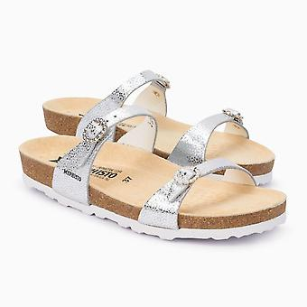 Mephisto Womens Norie Canvas Open Toe Casual Slide Sandals