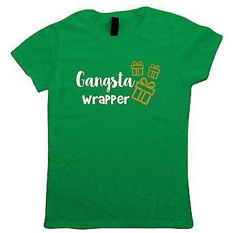 Gangsta Wrapper, Camiseta Feminina - Presente de Natal Sua Mãe