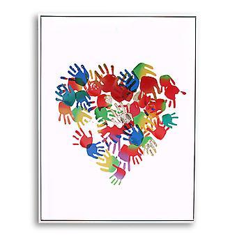 Hands On Heart Framed Print