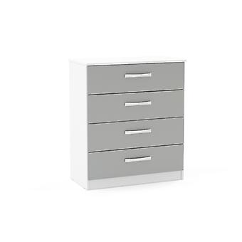 Lynx 4 Drawer Chest - Grey