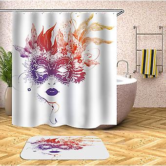 Flame Colors Feather Mask Shower Curtain