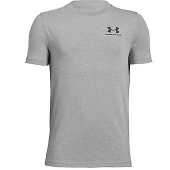 Под броня детей взимается хлопок короткий рукав спорта Футболка футболка серый