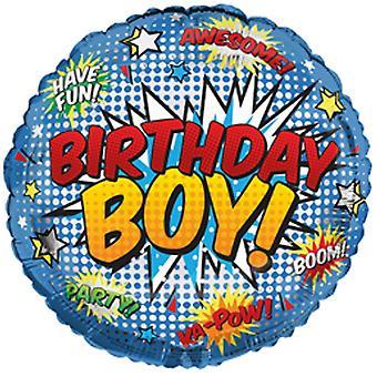Simon Elvin 18 Inch Birthday Boy Blast Round Foil Balloon