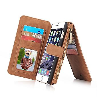Case For iPhone 6 / 6s Multifunction Portfolio Brown