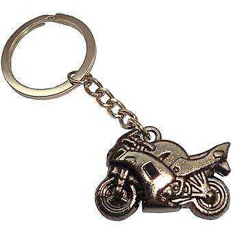 Bassin and Brown Motorbike Key Ring - Black
