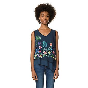 Desigual Women's Sleeveless Aiko Layered Blouse