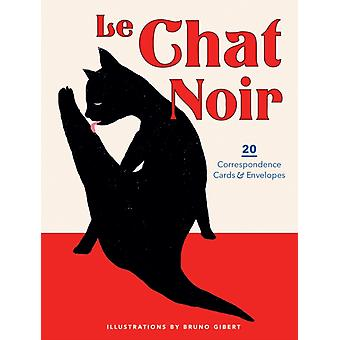Le Chat Noir 20 Correspondence Cards  Envelopes by Bruno Gibert