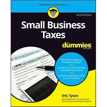 Small Business Taxes For Dummies 2nd Edition by Tyson & Eric