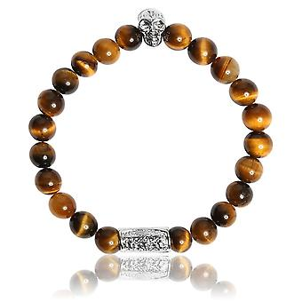 Lauren Steven Design ML001 Bracelet - Natural Stone Bracelet Eye of Tiger Men