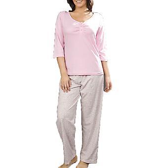 Naisten Leopard tulosta puuvilla pyjama yöasut