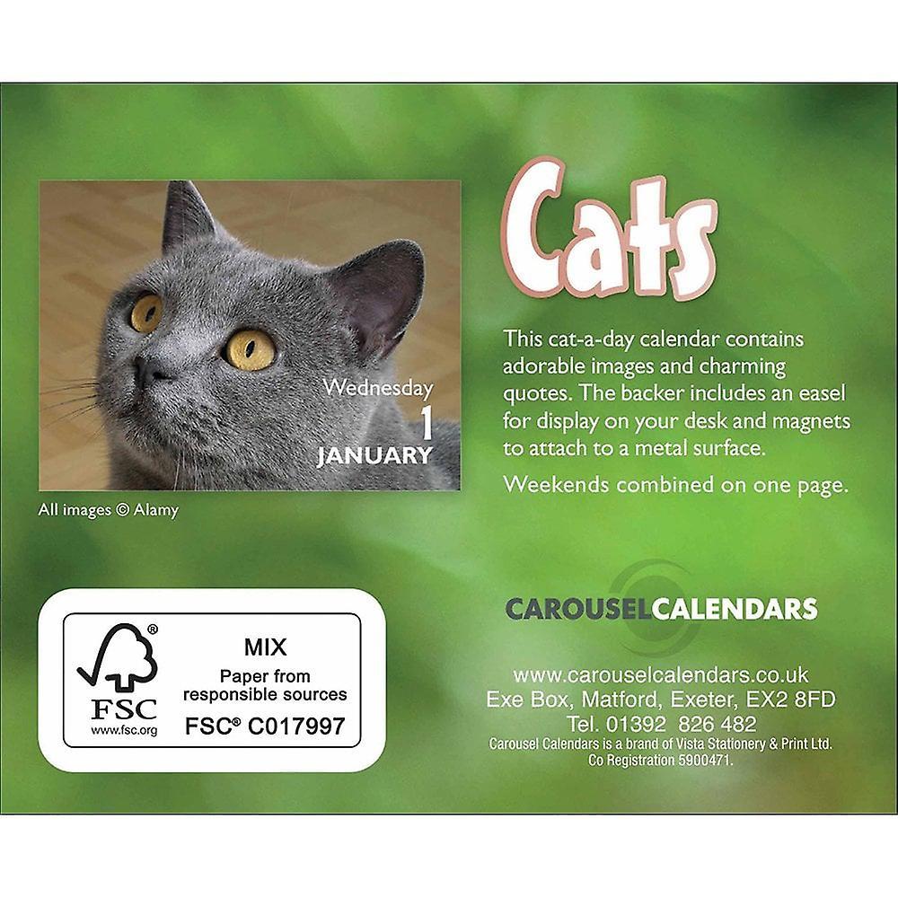 Otter House Mini Calendar Magnetic Backer Cats 2020