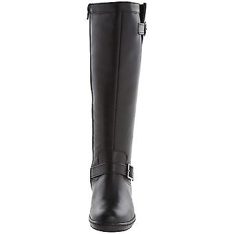 David Tate Womens Della Leather Almond Toe Knee High Fashion Boots