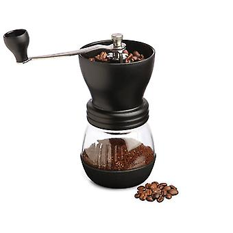 Kabalo Manual Coffee Bean Grinder & Nut/Spice with Ceramic Burr, Glass Jar Classic Kitchen Tool Espresso Accessory