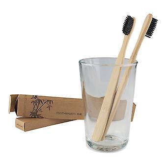 Tandborste av Bambu - 2 pack