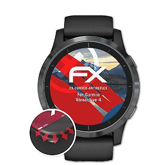 atFoliX 3x Protective Film compatible with Garmin Vivoactive 4 Screen Protector clear&flexible