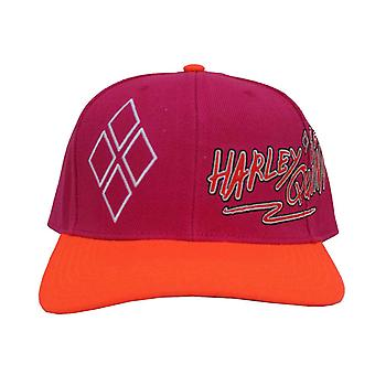 Birds Of Prey Baseball Cap Harley Quinn Logo printed bill new Official Snapback