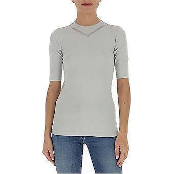 Fabiana Filippi Jed260b966n5668143 Women's Grey Cotton T-shirt