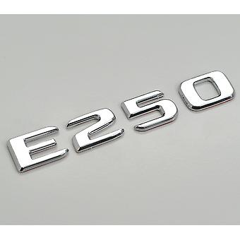Silver Chrome E250 Flat Mercedes Benz Car Model Rear Boot Number Letter Sticker Decal Badge Emblem For E Class W210 W211 W212 C207/A207 W213 AMG