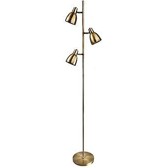 Firstlight Token Antique Brass 3 Kopuła Lampa podłogowa