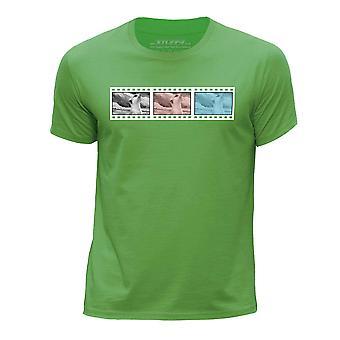 STUFF4 Chłopca rundy szyi koszulka/Film Strip / zwierzęta / Meerkat/zielony