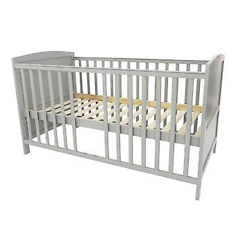 Baby cot Mika, grigio, 140x70 cm