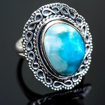 كبير لارمار خاتم حجم 8.25 (925 الجنيه الاسترليني الفضة) -- اليدوية بوهو خمر مجوهرات RING997329