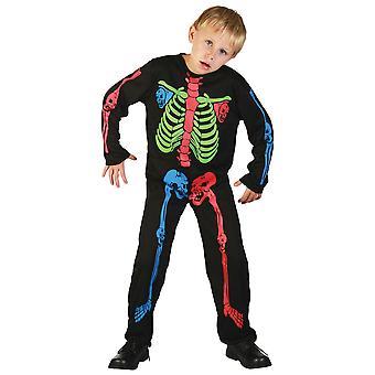 Bristol Neuheit Kinder/Kinder bunte Skelett Kostüm