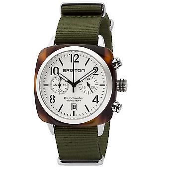 Briston 16140.SA.T.2.NGA Clubmaster Classic Green Strap Wristwatch