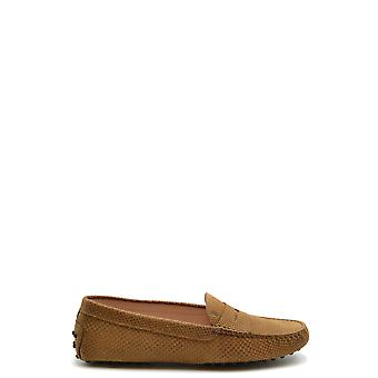 Tod's Ezbc025082 Women's Beige Leather Loafers