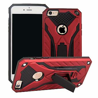 For iPhone 6 & 6S Case, Armour Strong Shockproof Tough Cover Kickstand, Red