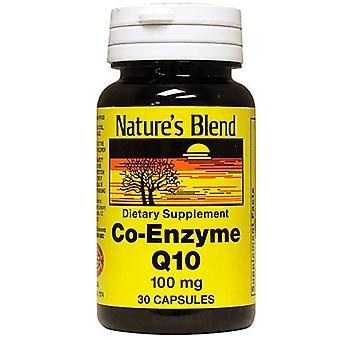 Nature's blend co-enzyme q10, 100 mg, capsules, 30 ea