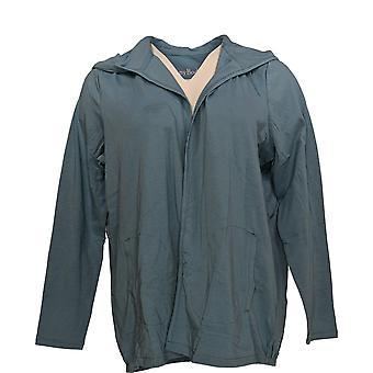 Anybody Women's Top Loungewear Cozy Knit Hooded Cardigan Blue A349790