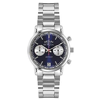 Rotary GB90130/05 Watch wrist Chronograph, stainless steel band, silver