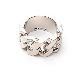 Alexander Mcqueen 576873j160y0446 Men's Zilveren Koperen Ring