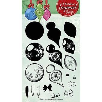 استوديو ضوء الطبقات Clearstempel عيد الميلاد A5 nr 08 STAMPLS08