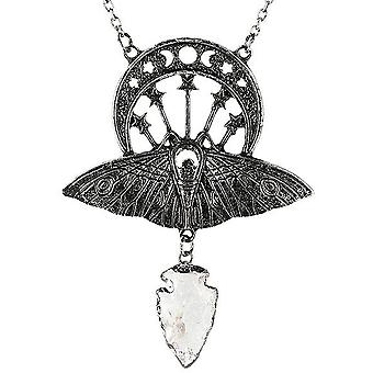 Restyle - crystal moon moth - necklace and pendant