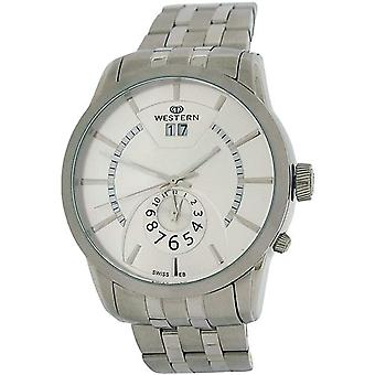 Western Moments Tressel Gents Date Dual Time All Stainless Steel Smart Watch