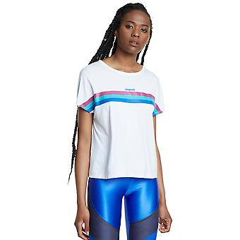 Desigual White Sport Tee Back Pleats Studio White Activewear T-Shirt
