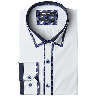 Oscar Banks Classic Check Trim Mens Shirt