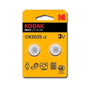 Lithium CR2025 Kodak ULTRA MAX LITHIUM 3V (2 uds)