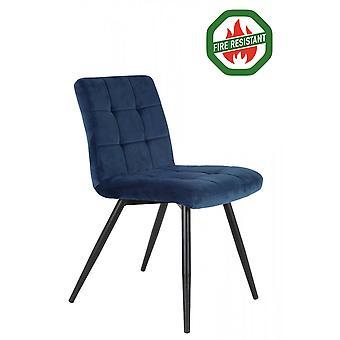 Light & Living Dining Chair 57x49x84cm Olive Fr Velvet Blue